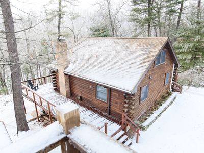 Photo for Luxury Cabin On 4 Wooded Acres w/ private Sleepy Creek Frontage