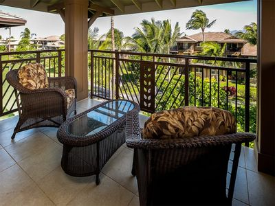 Photo for Luxe 2-Level! Gourmet Kitchen, Laundry, Lanai, WiFi, AC+TVs–Hali'i Kai Waikoloa 22G