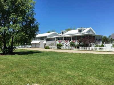 Photo for GRAY HAVEN-Beautiful 10 acre home sleeps 20 guests 1 1/2 miles off Lake Michigan