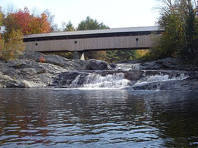 Nearby Swiftwater Swimming Hole. 'Big Eddy' & Covered Bridge