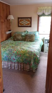 Photo for Clean, cozy, comfortable cottage on sandy beach on Lake Champlain!