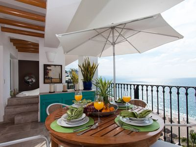 Photo for Stunning Luxury 3 bedroom Penthouse right on Los Muertos Beach