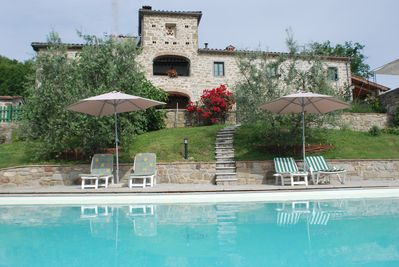 The villa from the private pool