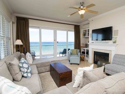 Photo for Enjoy Beautiful Views from this Beachfront Condo. Steps to the Beach with Free Beach Service! Private Balcony