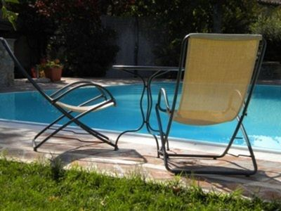 Photo for Beautiful apartment for 8 guests with pool, TV, patio, pets allowed and parking