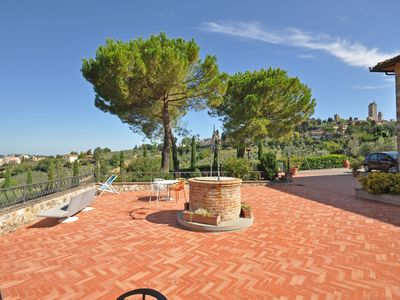 Photo for Cosy apartment for 2 guests with WIFI, A/C, pool, TV, panoramic view and parking