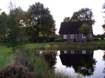 Photo for 2 cottages on a large plot with swimming pond, secluded location