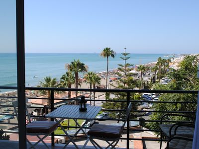 Photo for Renovated studio on the beachfront, wifi, satellite TV and air conditioning