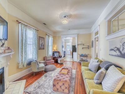 Photo for Walk your dog in Forsyth Park from this double-balcony Savannah condo