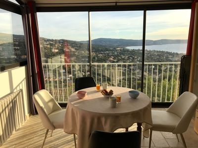 Photo for Stunning sea view garden pool. Very nice apartment renovated. Var Provence