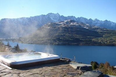 mountain views which can be enjoyed from your very own spa pool.