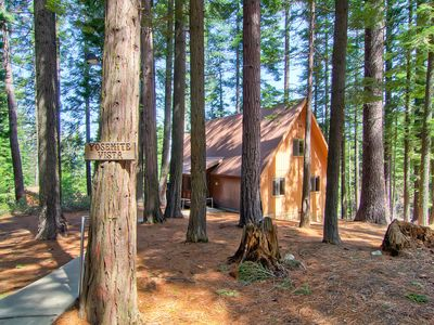 Photo for Yosemite Vista is surrounded by sugar pines, this charming mountain A-frame has a wonderful view ...