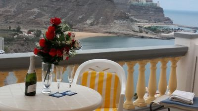 Spectacular seaview from the large terrace (18 sqm) enjoying all day sun...