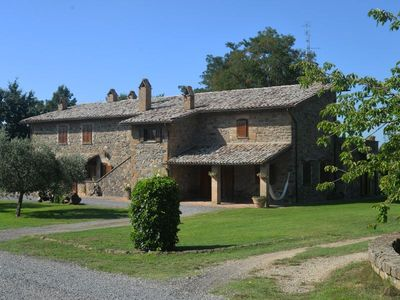Photo for Apt in old farmhouse  with pool and garden to eat outside, Lazio.