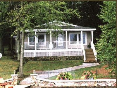 Photo for Bridgeview Cottage-Charming Lake Hide-Away on Private Island; Dock and Boathouse