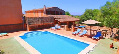 Photo for Can Guillem beautiful villa with pool in the middle of nature 415