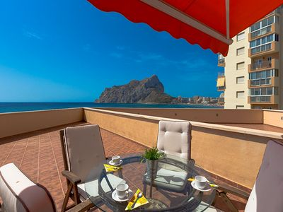 Photo for TRAMONTANA, apartment in front of the Levante beach in Calp, Alicante