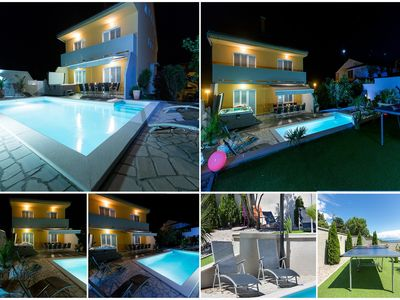 Photo for Holiday house with outdoor pool, billiards, darts and sea views