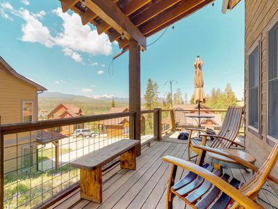 Photo for NEW LISTING! Charming & cozy cabin with private hot tub and mountain views