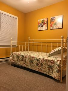 Trumble bed with plenty closet space and linens