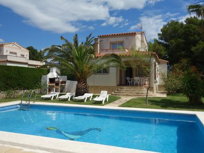 Photo for Detached villa for 6 people, private swimming pool in Las Tres Calas