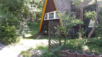Photo for Nurdachhaus in the Palatinate Forest up to 6 persons with terrace, garden and Wi-Fi