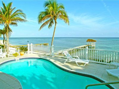 Photo for Far Tortuga: Beachfront Villa with Private Pool, Dock, and Excellent Snorkeling
