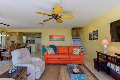 The open floor plan is great for family connection and conversation