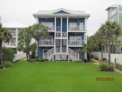 Large Lawn Area private to Triple Crown only. Overlooks Beach