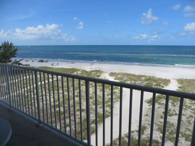 Photo for Stunning views from balcony in upscale beach front unit close to John's Pass