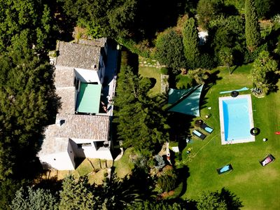 Photo for Architect villa overlooking the sea ten minutes from the first beach, quiet
