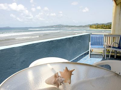 Photo for Fantastic Views, Beach Access, Pool & more! Oceanfront 2-Bedroom Condo