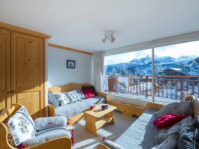 Photo for Pralong 203: Cosy living room with South facing balcony