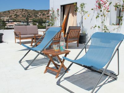 Photo for Sunny terrace apt in Vouliagmeni