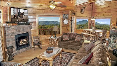 Photo for Mountain Views*Work w/ Owner*End of Road*Free WiFi*Zipline50%*Pools*Easy Roads