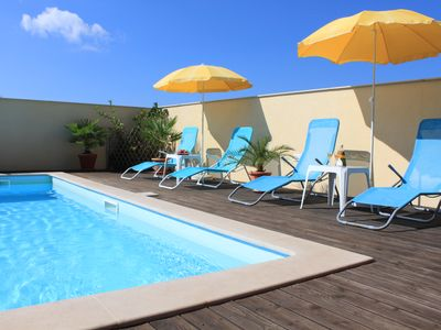 Photo for Apartment in Peroj in Villa G. A.P. with large pool, WLLAN, parking, barbecue