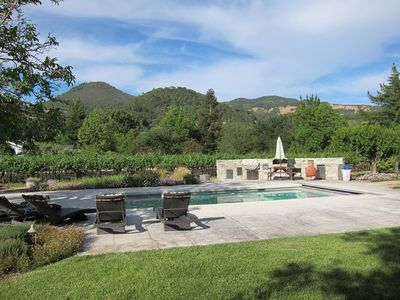 Photo for Mountain & Vineyard View Home with Pool & Spa.  Walking Distance to Wineries.