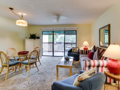 Photo for Lakefront home w/ lake views & pool, easy beach access - Snowbirds welcome!