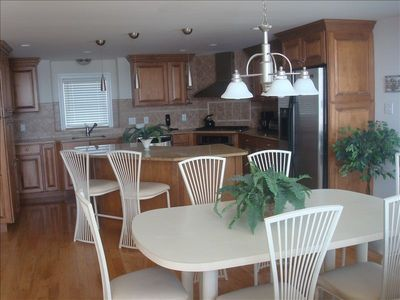 Modern upgraded kitchen and eating area.