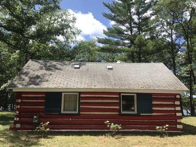 Photo for Up North Log Cabin.  WATERFRONT!  Pets welcome.