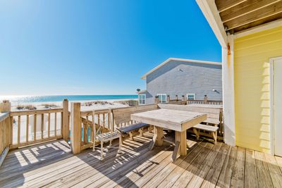 Enjoy Gorgeous Beachfront Views From The Patio!