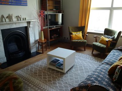 Sitting room with Freeview digital TV with internet