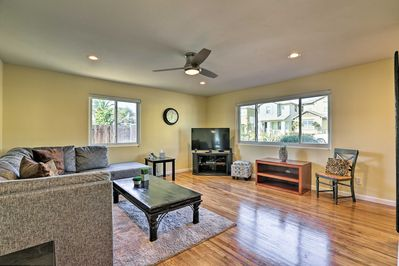 Hardwood floors and all of the comforts of home fill the interior.