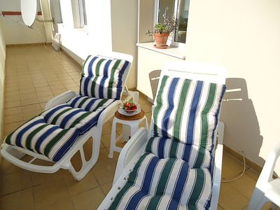 Sunbeds on Private Terrace