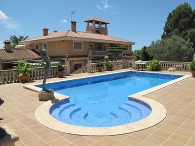 Photo for House with 6 bedrooms in Palma, with wonderful sea view, private pool and furnished garden - 15 km from the beach