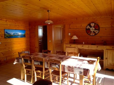 Photo for Old chalet completely renovated. South exposure. Panoramic view.