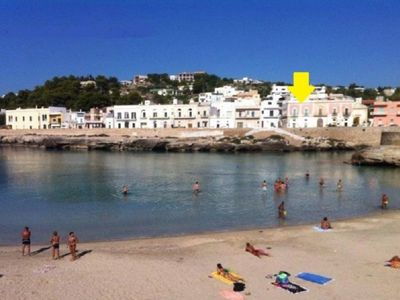 Photo for Palazzo Stasi 1 floor apartment BEAUTIFUL SEA VIEW and beach at 30 meters