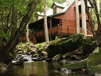 Photo for Wilderness Resort Cabin With Spectacular Water Fall.