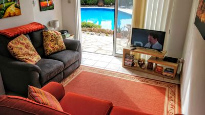 Photo for Apartment with Sea views and shared pool close to village centre. Free WiFi.