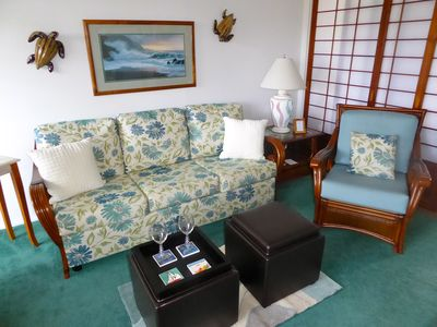 Photo for Enjoy our condo located in walking distance to restuarants and beachs.